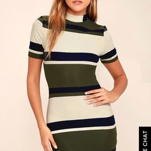 Lulu's Striped bodycon dress